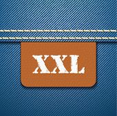 XXL size clothing label - vector illustration