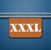 XXXL size clothing label - vector illustration