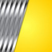 Abstract yellow and metallic vector background