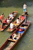 Gondolas on river Cam