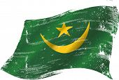 waving Mauritanian grunge flag. A grunge mauritanian flag in the wind for you
