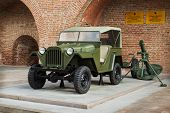 Russia, Nizhny Novgorod - Aug 06, 2014:passenger Road Vehicle Gaz-67B During The Second World War