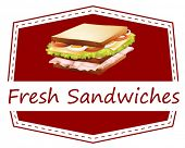 Ilustration of a banner of fresh sandwiches