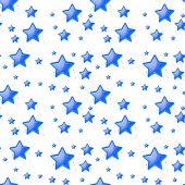 Ilustration of a blue star background