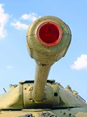 Military Tank Cannon Taken Closeup.