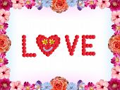Floral Valentines Card - Love