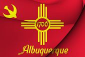 Flag Of Albuquerque, Usa.