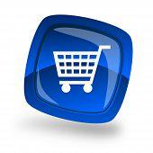 Blue Shopping icon