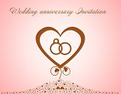 Wedding Anniversary Invitation.