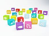 mobile phone app icon. Software concept