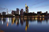 Frankfurt (germany) - Skyline In The Evening