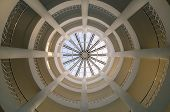 Spider Web pattern inside dome building