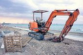 Empty Excavator In Larnaca
