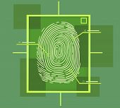 pic of fingerprint  - this is a hi tech fingerprint composition - JPG