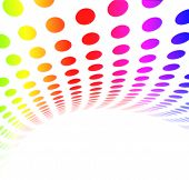 Abstract Dot Pattern Rainbow