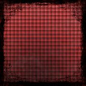 Red Grunge Background. Abstract Vintage Texture With Frame And Border.