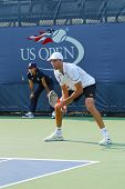 Professional tennis player Ivo Karlovic during qualifying match match at US Open 2013