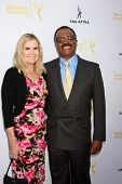 LOS ANGELES - AUG 12:  Mary Ley, Ted Lange at the Dynamic & Diverse:  A 66th Emmy Awards Celebration of Diversity Event at Television Academy on August 12, 2014 in North Hollywood, CA