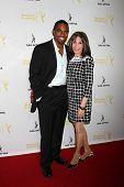 LOS ANGELES - AUG 12:  Jason George, Kate Linder at the Dynamic & Diverse:  A 66th Emmy Awards Celeb