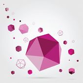 Geometric background. 3D Vector.