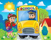 Image with school bus theme 8 - eps10 vector illustration.