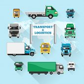 Truck Icons Flat