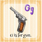 A letter G which stands for gun