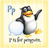 A letter P which stands for penguin