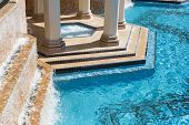 stock photo of tub  - Exotic Luxury Swimming Pool Water - JPG