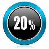 20 percent glossy icon sale sign