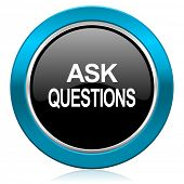 ask questions glossy icon