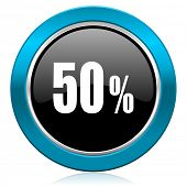 50 percent glossy icon sale sign