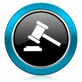 auction glossy icon court sign verdict symbol