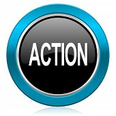 action glossy icon
