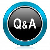 question answer glossy icon