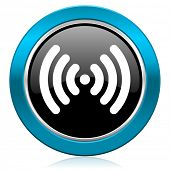 wifi glossy icon wireless network sign
