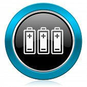 battery glossy icon power sign