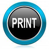 print glossy icon