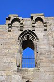 Stafford castle window ruin.