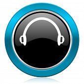 headphones glossy icon