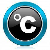 celsius glossy icon temperature unit sign