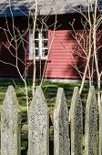 Wooden Fence In The Spring In The Countryside