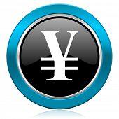 yen glossy icon