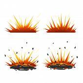 Set Of Cartoon Explosions