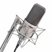 image of microphone  - Microphone isolated on the white background - JPG