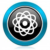 atom glossy icon