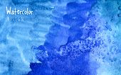 picture of rough-water  - Watercolor design element blue Water for the realization of your best ideas - JPG