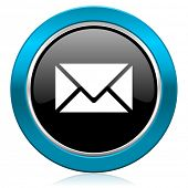 email glossy icon post sign