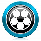 soccer glossy icon football sign