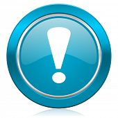 exclamation sign blue icon warning sign